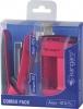 ,Nietmachine En Perforator Combopack Kangaro Roze