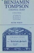 Peter White Benjamin Tompson, Colonial Bard