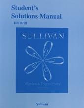 Michael Sullivan Student`s Solutions Manual (Valuepak) for Algebra and Trigonometry