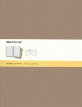 Moleskine Cahier Journal Extra Extra Large Squared Kraft Brown
