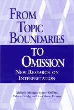 Metzger, Melanie From Topic Boundaries to Omission