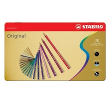 , Kleurpotloden STABILO Original blik à 38 kleuren