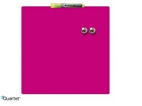 , Whiteboard Rexel 36x36cm roze magnetisch