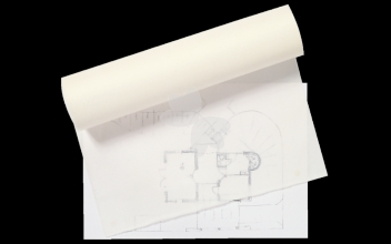 , Patroontekenpapier rol 10mx100cm blanco