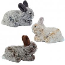 , Knuffel pluche konijn liggend ass 18 cm