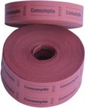, Consumptiebon Combicraft 57x30mm 2-zijdig 2x1000 stuks rood