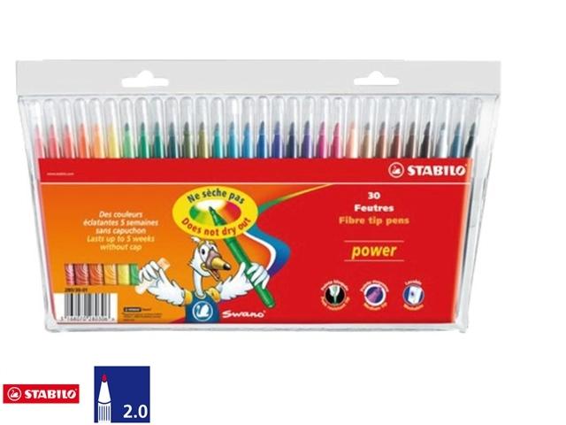 ,Viltstift STABILO Power 280 etui à 30 kleuren