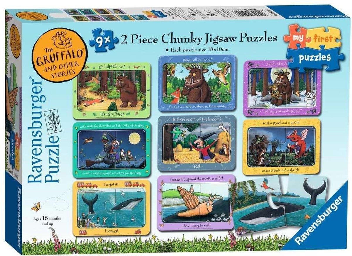 Rav-051106,Puzzel the gruffalo en andere verhaaltjes 9 x 2 stuks
