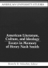 Beverly R Voloshin, American Literature, Culture, and Ideology