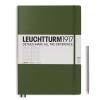 <b>Lt348097</b>,Leuchtturm notitieboek pocket 90x150 lijn legergroen