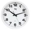 , wandklok TIQ diameter 400 mm kunststof wit, witte           wijzerplaat
