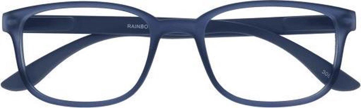 ,Leesbril +2.50 regenboog blauw