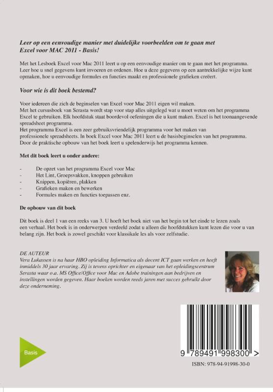 Vera Lukassen,Excel voor Mac 2011 - Basis