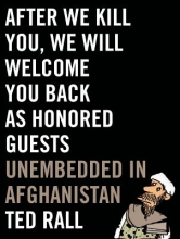 Rall, Ted After We Kill You, We Will Welcome You Back as Honored Guest