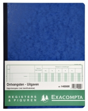 , Register Piqure dagontvangsten 320x250mm 80vel blauw