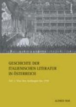Noe, Alfred Geschichte der italienischen Literatur in Österreich 1