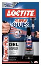 , Secondelijm Loctite Powerflex gel tube 3gram op blister