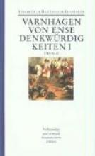 Varnhagen von Ense, Karl A Werke Denkwürdigkeiten des eignen Lebens I