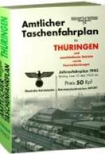 Amtlicher Taschenfahrplan f�r Th�ringen - Jahresfahrplan 1943