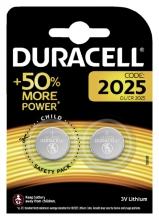 , Batterij Duracell knoopcel 2xCR2025 lithium Ø20mm 3V-170mAh