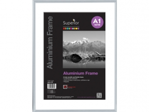 , Fotolijst Seco A1 zilverkleurig Geborsteld aluminium. 11mm