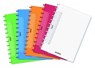 , Schrift Adoc Colorlines A4 lijn144blz  90gr PP assorti