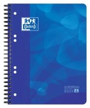 , Projectboek Oxford School A5+ 6-gaats lijn 120vel blauw