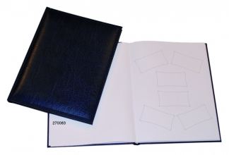 , Receptiealbum gestikt 205x260mm blauw