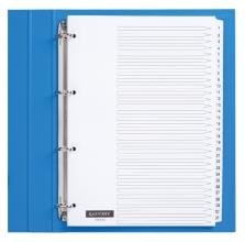 , Tabbladen Quantore 4-gaats 1-31 genummerd wit karton