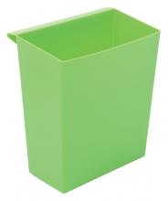 , Inzetbak voor vierkante tapse papierbak groen