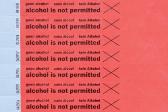 , Polsbandje CombiCraft alcohol not permitted rood