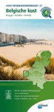 ANWB , Fietsknooppuntenkaart Belgische kust 1:100.000