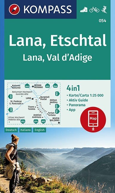 ,Lana, Etschtal Lana, Val d´Adige 1:25 000