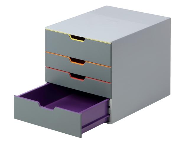 ,Ladenbox Durable Varicolor 4 laden grijs