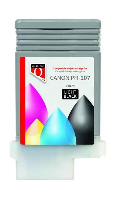 ,Inktcartridge Quantore Canon PFI-107 licht zwart