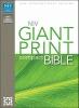 Compact Bible-NIV-Giant Print,New International Version, Burgundy, Leather-Look, Giant Print