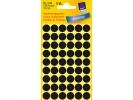 ,Etiket Avery Zweckform 3140 rond 12mm zwart 270stuks