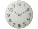 ,Wandklok NeXtime dia. 50 cm, glas, wit, `Classy Large`