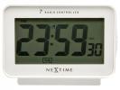 ,Alarmklok NeXtime 12.3 x 8.8 cm, plastic, mat wit, `Easy    Alarm` Radio Controlled