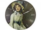 ,Wandklok NeXtime dia. 50 cm, hout, `Portrait of Mrs Serizy`