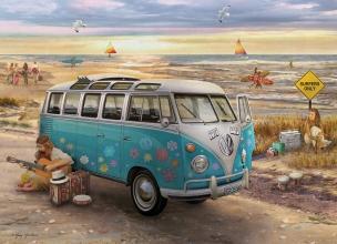 Eur-6000-5310 , The love $ hope vw bus - giordano - puzzel - eurographics - 1000 - 48 x 68