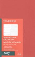 Moleskine 2017 Weekly Notebook, 12m, Large, Coral Orange