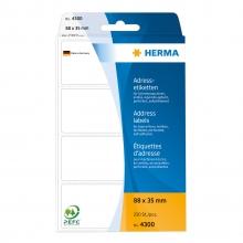 , Etiket Herma adres 4300 88x35mm 250stuks zig-zag
