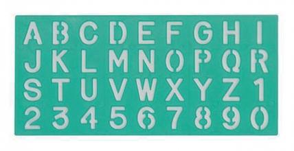 , Lettersjabloon Linex 20mm hoofdletters/letters/cijfers