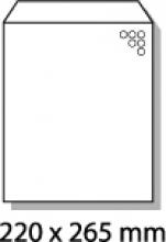 , luchtkussenenvelop Raadhuis 220x265mm E15 wit plakstrip     doos a 100 stuks