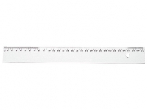 , Liniaal Quantore 30cm kunststof transparant