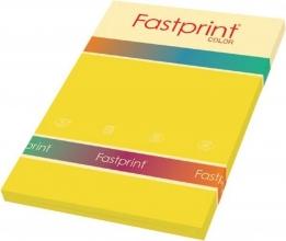 , Kopieerpapier Fastprint A4 120gr diepgeel 100vel