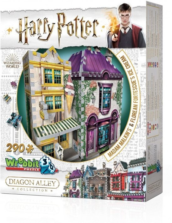 W3d-0510,Wrebbit 3d puzzle - harry potter -melkin`s & florian fortescue`s ice crea - 290