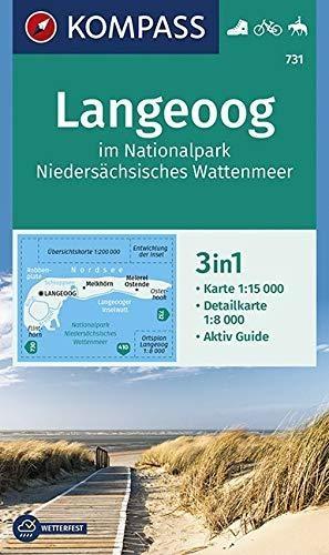 ,Langeoog im Nationalpark Niedersächsisches Wattenmeer 1:15 000