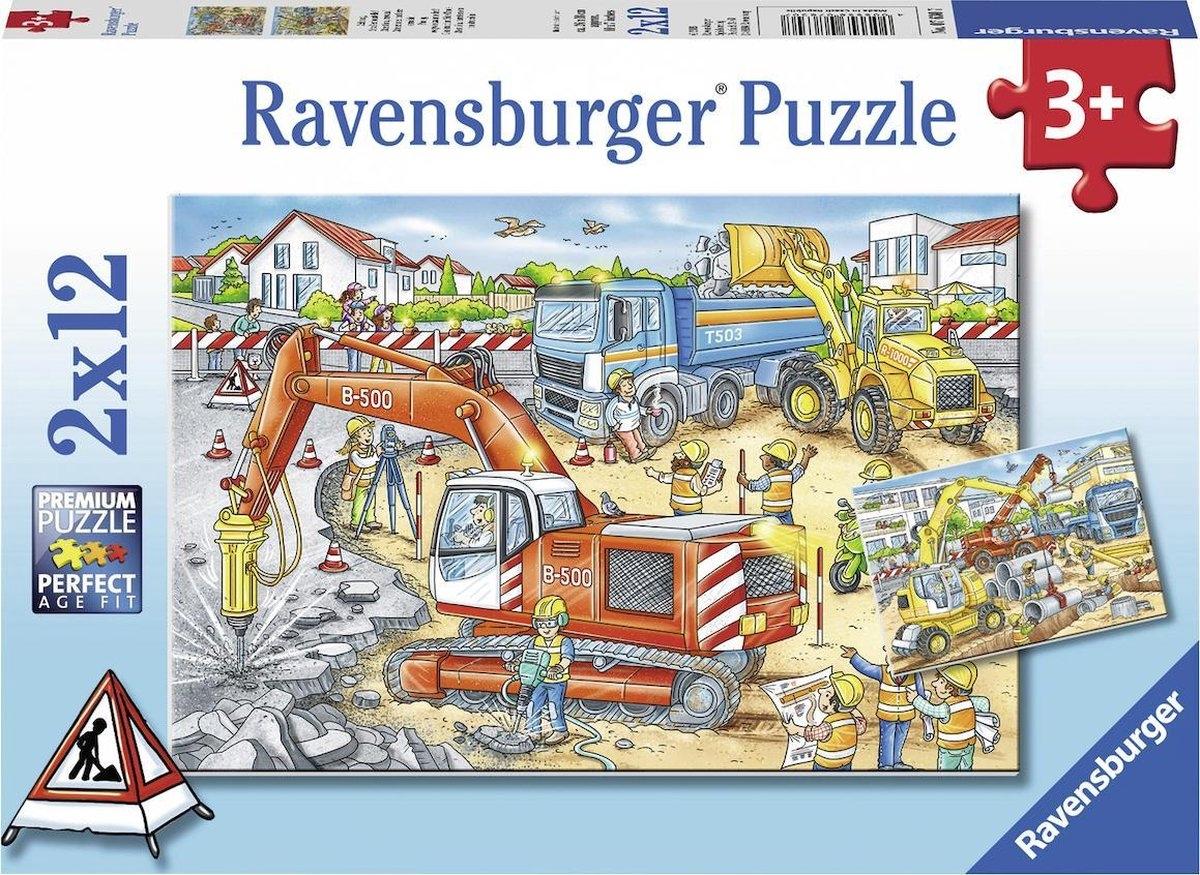 Rav-076307,Puzzel pas op, wegwerkzaamheden! 2x 12 stuks